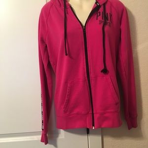 Pink by vs zip up hoodie